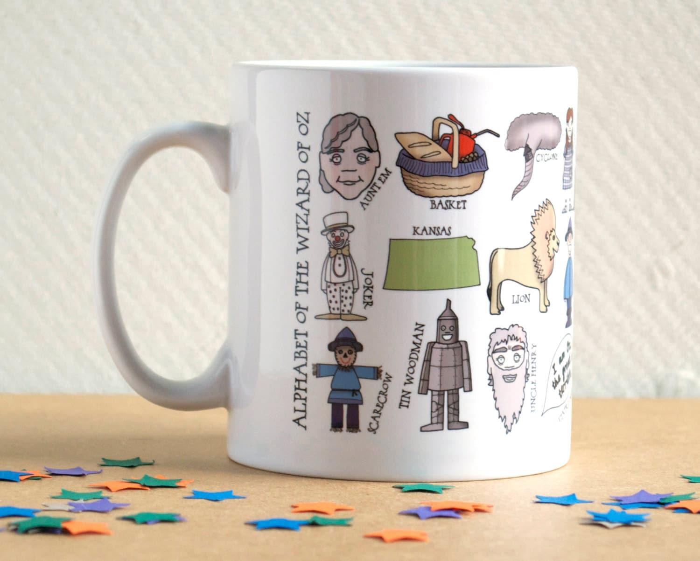 Wizard Of Oz Alphabet Mug Gift For Book Lover Literature