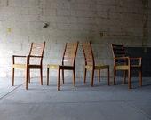 TEAK mid century Modern Danish DINING CHAIRS set of four