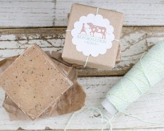 Mocha Soap {Chocolate Coffee Soap Made with Jersey Milk, All-Natural, Cold Process Soap, Handcrafted}}