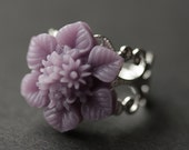 Lavender Flower Ring. Star Flower Ring. Handmade Ring. Purple Flower Ring. Lavender Ring. Flower Jewelry. Silver Ring. Handmade Jewelry.