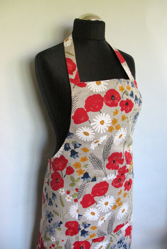 Apron For Kitchen : Linen Kitchen Utility Apron Womens Aprons for women Valentines Day ...