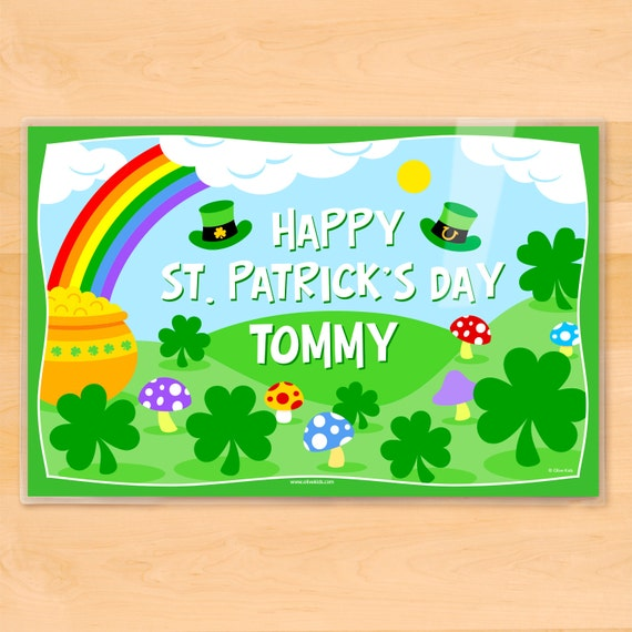 olive kids personalized st patrick 39 s day placemat kids
