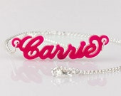 Personalized Necklace Acrylic Carrie Style Name Necklace  - Choose Any Name