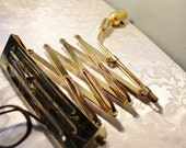 Vintage Brass Accordion Scissor Wall Lamp - Industrial Steampunk