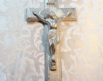 Crucifix Jesus Cross Metal Cast aluminum