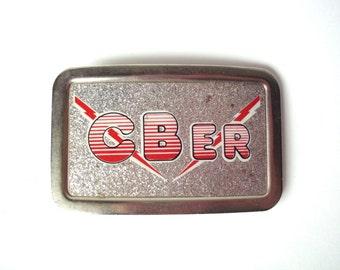 Vintage CB-er CB Radio Belt Buckle, Sparkle, 10-4