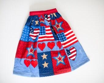 Terry Cloth Bib: Stars & Stripes