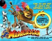 Printable Madagascar Invitation, Madagascar 3 Party, Madagascar Birthday Invite