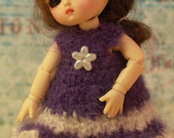 """Lavender Love for Honee-B or PukiPuki 4.5"""" BJD by JDL Doll Clothes"""