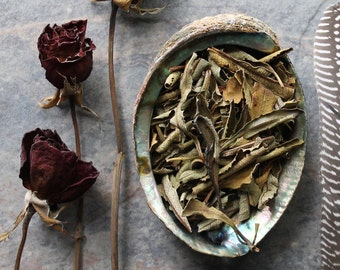Yerba Santa Leaves, Yerba Santa Incense, Holy Herb, Loose Smudge, Sacred Smoke, Altar Space, Space Clearing, Purification Smudge