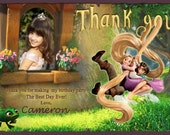 Rapunzel TANGLED - Personalized Thank You Card