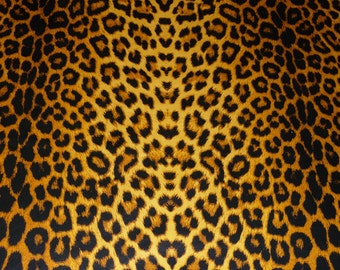 """Leather 8""""x10"""" Ochre Large Cheetah / Leopard Print Cowhide NOT Hair-On 2-2.5 OZ / .8-1 mm PeggySueAlso E1650-04"""