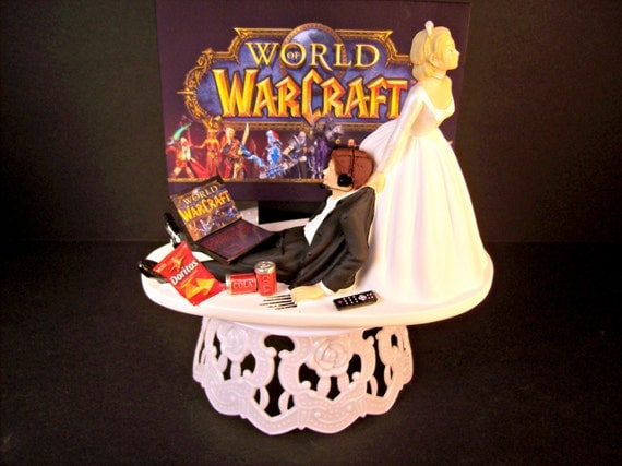 wow wedding cake topper world of warcraft and groom by mikeg1968 27659