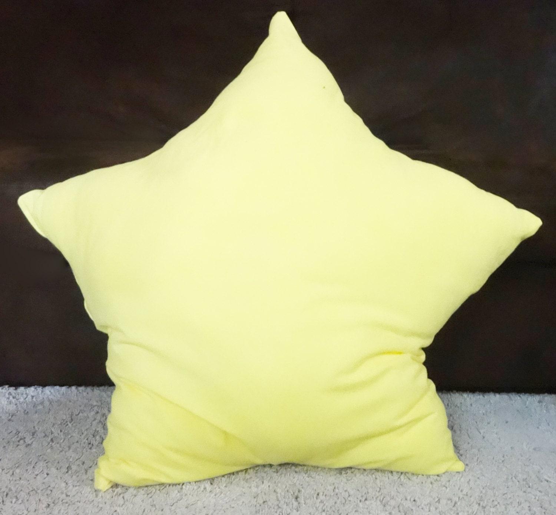 Star floor pillow yellow star pillow kids floor by LovebugHandmade