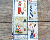 SALE - Nautical Postcards Wrapping Paper, 2 Feet x 10 Feet