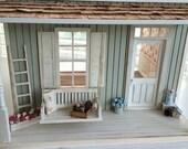 FLASH SALE! Pre-Order Custom Miniature 1:12 scale Little Farmhouse Cottage