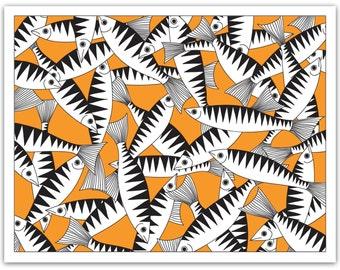 Greeting Card – Mackerel