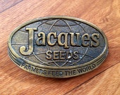 If your name is Jacque and you want to advertize your seed - this 1977 buckle is for you.