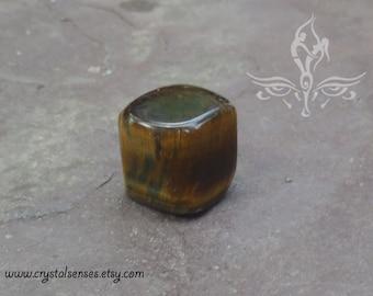 Tiger Eye Tumbled Gemstone Crystal - 1 piece Large Size (TE0025), Integrity, Confidence, Luck, Base Chakra