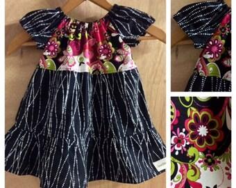 Infant Peasant Dress, size 12 months