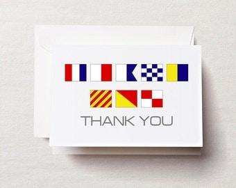 Nautical Flag Thank You Cards