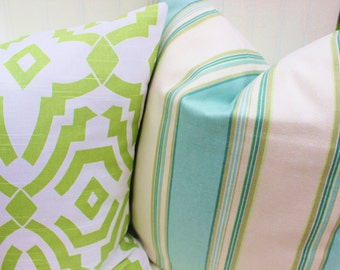 Light Green Pillow, Decorative Throw Pillow Cover, Accent Pillow, Green Cushions, All Sizes, 12x18, 16x16, 18x18, 20x20