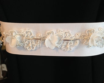 Hand Beaded Wedding Dress Belt/sash
