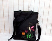 Carry all bag, carry all tote, market bag, foldover bag , book bag, grey foldolver tote bag, womens carry all tote bag,