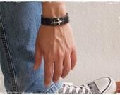 Fleur-de-lis Bracelet, Men's Bracelet, Leather Cuff, Fleur-de-lys Bracelet Cuff, Iris Bracelet Cuff, Lily Leather Cuff, Normandic Bracelet