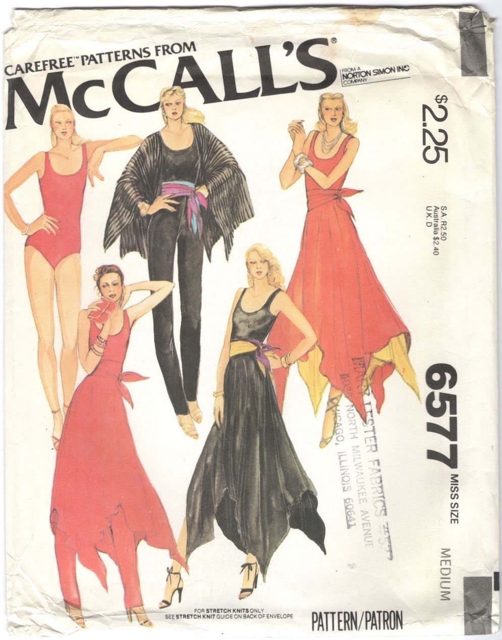 1970s Bob Mackie pattern McCall's 6577