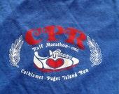 Vintage 1983 half MARATHON RUN T Shirt 80s