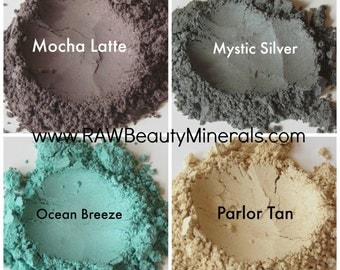 Natural Makeup, Mineral Eye Shadow, Natural Eye Shadow, Shimmer Eye Makeup, Vegan Makeup, 10 gram jar