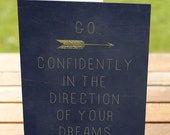 Graduation Greeting Card | Go Confidently in the Direction of Your Dreams | A7 5x7 Folded - Blank Inside - Wholesale Available