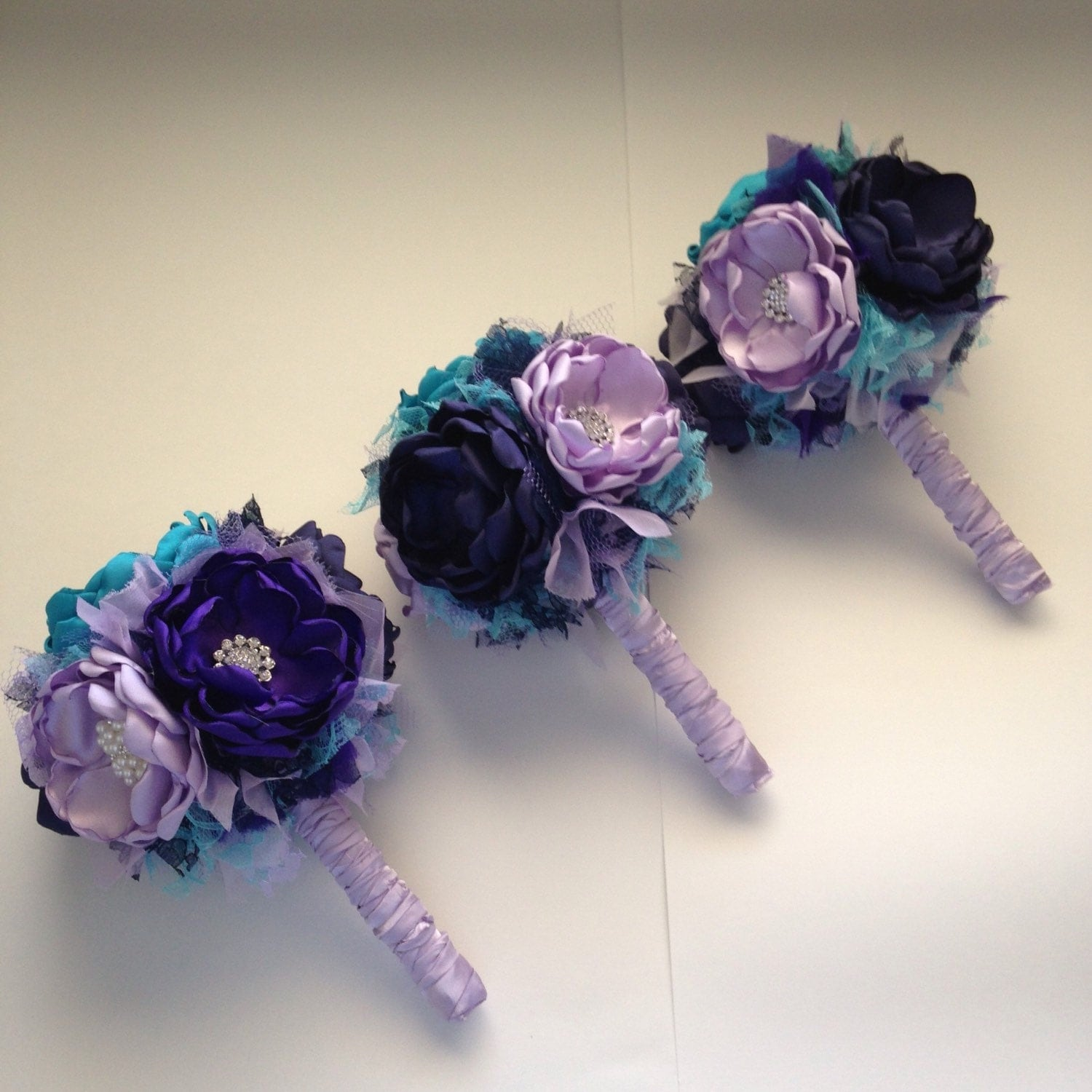 Fabric bouquet small size bridesmaid bouquet royal and zoom dhlflorist Gallery