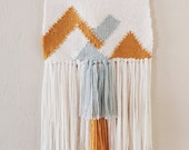 Woven Tapestry / Mountains / Hand Woven Wall Hanging