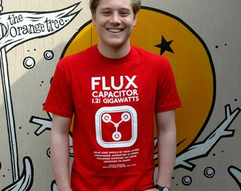 Back to the Future 'Flux' Screen printed T Shirt