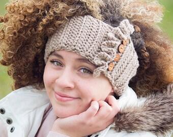 Earwarmers, Crochet Headband, Ruffle Headband, Headwrap, Fall Fashion, Crochet Ear Warmers