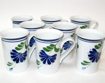 Dansk Sage Song Set 8 Coffee Mugs Niels Refsgaard - Unused Cups w/ Labels NWT