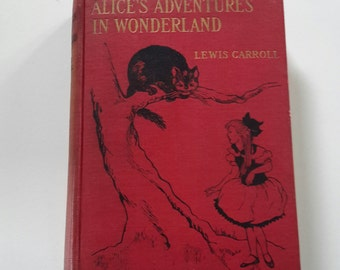 1923 Alice's Adventures in Wonderland by Lewis Carroll Gertrude Kay Lippencott First Thus Edition