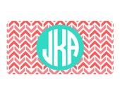 Monogrammed License Plate - Bridesmaids Gift - Mother's Day - Teacher gift - Back to School - Graduation - Birthday Gift - Lots of designs!