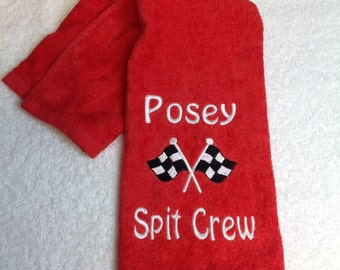 baby gift, burp rag, nascar fan, made finger tip terry towel, great for later use.