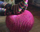 Custom order for Tiffany - Pink Multicolored Pouf Ottoman