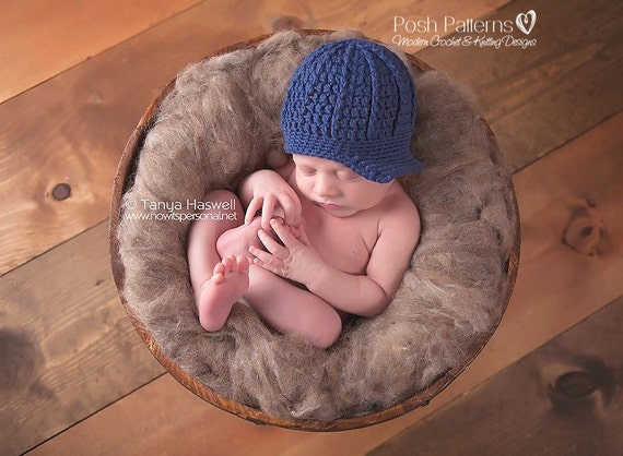 Crochet PATTERN - Cross Stitch Newsboy Hat Crochet Pattern - Crochet Pattern Hat - Crochet Patterns Baby - Includes 6 Sizes - PDF 178