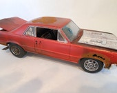 Classicwrecks Rusted Pontiac GTO Red Rusted Scale Model Car