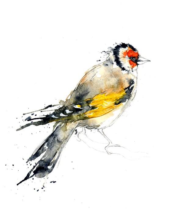 Goldfinch I Original Watercolour Illustration