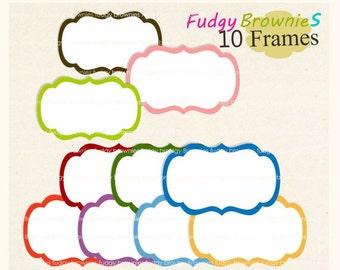 ON SALE frame clip art , digital clipart , Digital frame, Frames clipart, digital scrapbooking frames.A-35 ,  Instant download