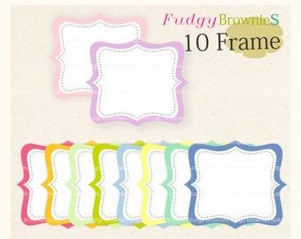 ON SALE Digital frame, circle frames clipart, white background frame, digital scrapbooking frames.A-08 ,  Instant download