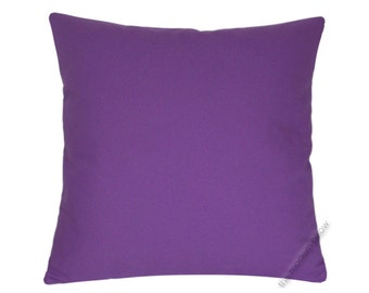 "Purple Violet Solid Decorative Throw Pillow Cover / Pillow Case / Cushion Cover / Cotton / 18x18"" Square"