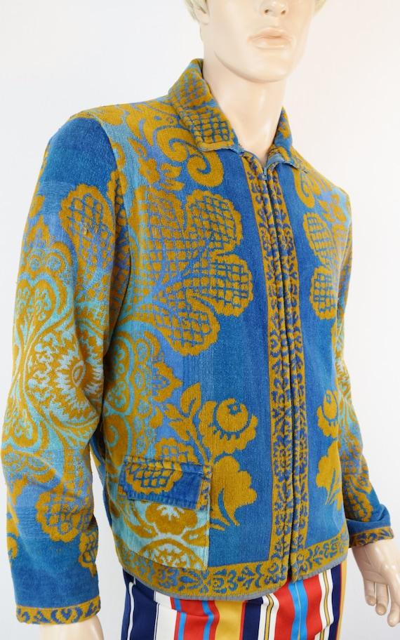 Vintage 1970 S Men S Men S Tapestry Terry Cloth