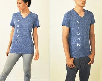 Vegan Shirt - Mesh Blue Unisex Shirt ( XS / S / M )